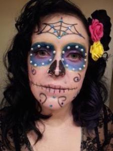 Sugar Skull halloween costume.