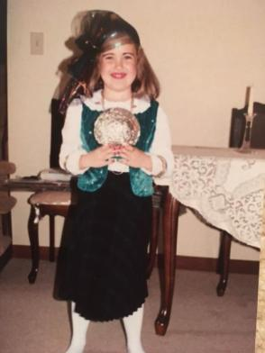 Me dressed as a fortune teller.