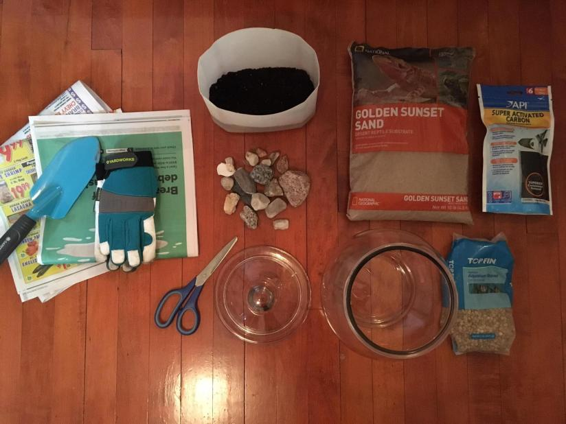 What you will need for the project.