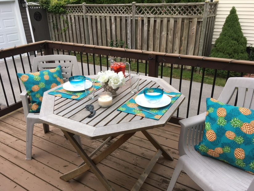 Finished results of pillows and placemats.