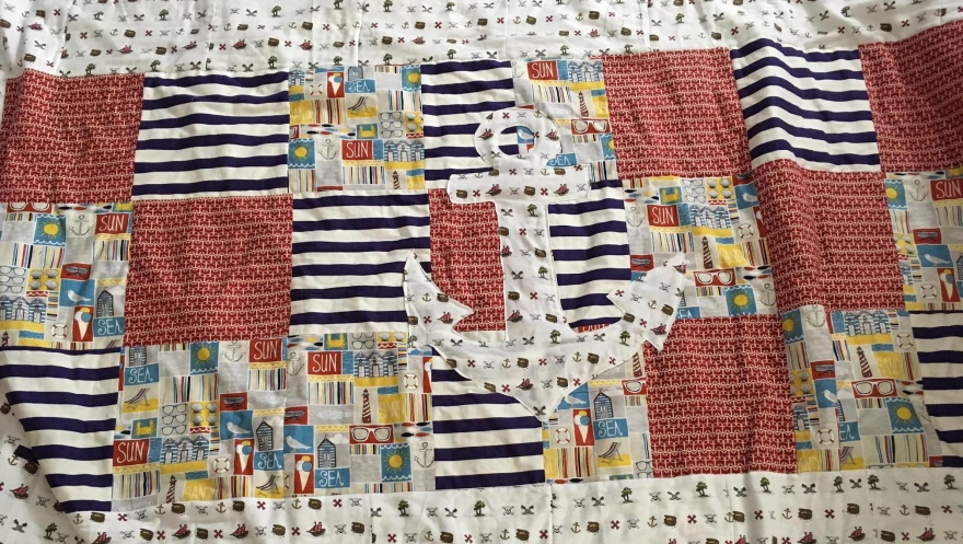 Picnic ready quilt.