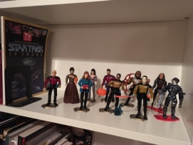 This is my collection of Star Trek action figures.