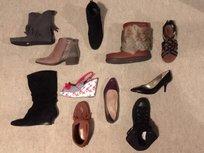 This is a selection of my shoe collection.