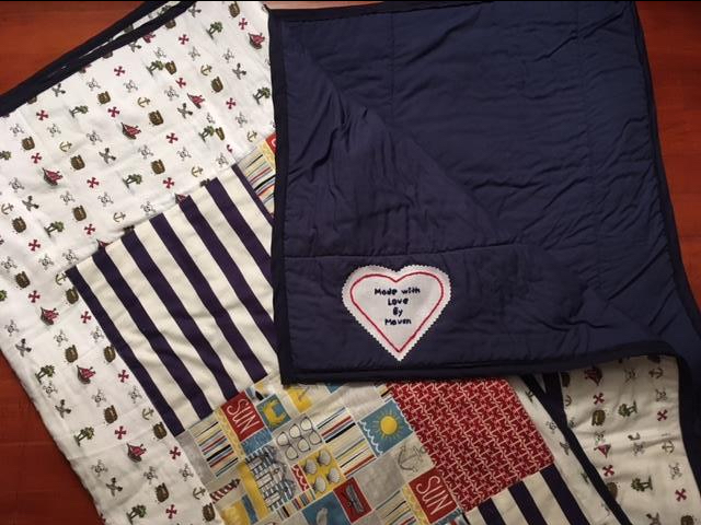 Here's how it looks once it's been sew to the quilt.