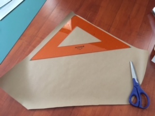 This is how I cut out the triangle for the unicorn horn.