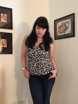 This is the leopard print tank.