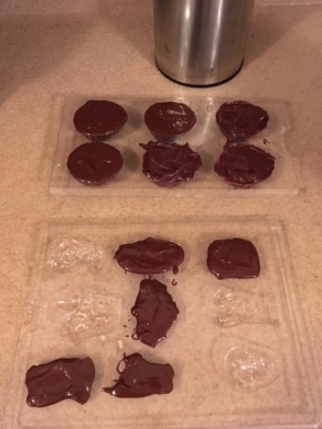Breaking out the Halloween candy molds.