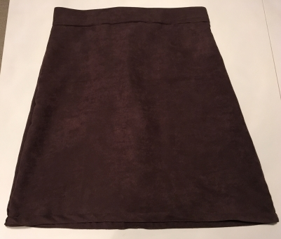 The front of the finished a-line skirt.