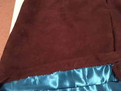 Here is how the hem looks from the inside of the skirt.