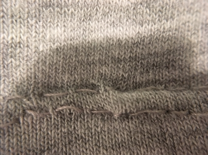 One of these stitches could have been a little straighter, but you mainly want to make sure to keep the stitch length the same as the original and make sure the lines meet up.