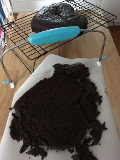 I bought a cake leveller recently and this was the first time using it.