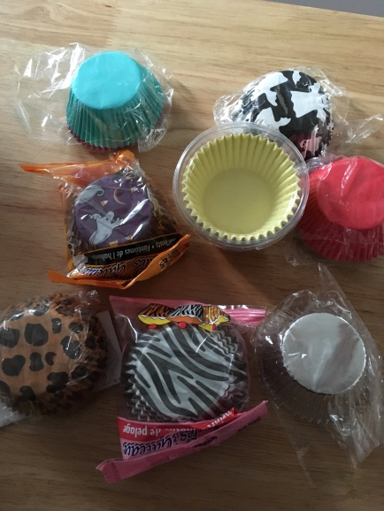 I have a very large collection of cupcake liners. When I worked store level retail, I used to make cupcakes for all the people I worked with for their Birthday. That's what started this collection.