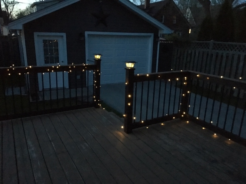 Got the outdoor lights on my deck all set up.