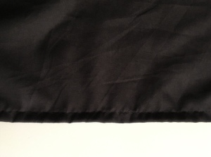 I started by hemming the inside layer.