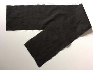 I've cut the waistband leaving room for seam allowance.