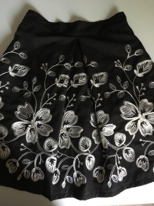 This is the finished box pleat skirt.