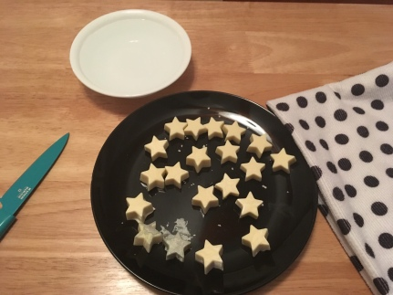 I tried a little experiment to thin out the stars by using a hot knife. It didn't go well.